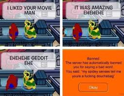 Club Penguin Meme - 15 funniest things users got banned for saying on club penguin