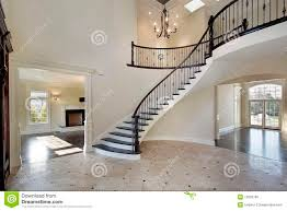 foyer with circular staircase royalty free stock photo image