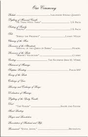 easy wedding program template one page wedding program template top free resume sles