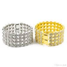 diamond studded 2018 hip hop men s diamond studded four row bracelet of