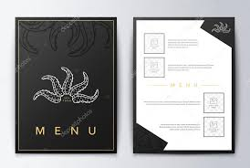 design cover menu food flyer brochure sea restaurant menu design