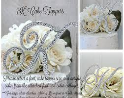 k cake topper wedding cake topper letter m initial cake toppers m monogram