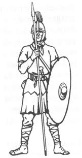 drawn soldiers roman centurion pencil and in color drawn