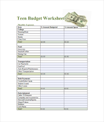 Get Out Of Debt Budget Spreadsheet by Budget Spreadsheet Template 3 Free Excel Documents