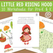 red riding hood worksheets preschool kindergarten