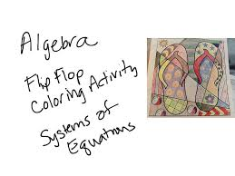 4 13 algebra coloring activity systems of equations math