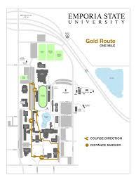 Esu Map Campus Walking Routes Recreation Services Emporia State University