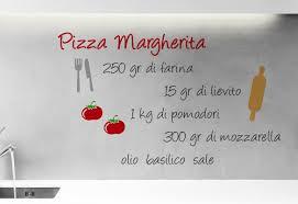 wallpops home decor line pizza margherita recipe quote wall decal