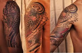 japanese koi half sleeve tattoo by dave rodriguez u2013 pacific rootz
