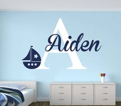 28 nautical wall stickers anchor with birds wall decal nautical wall stickers personalized name sailboat wall decal for boys nautical