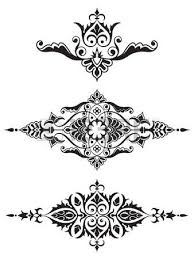 ornamental design element collection royalty free cliparts