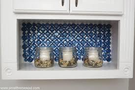Dollar Store Glass Backsplash Tutorial Small Home Soul - Glass backsplash pictures