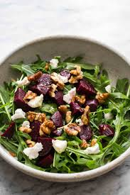 arugula salad with beets and goat cheese recipe simplyrecipes com