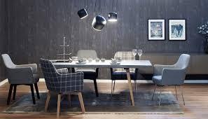 Esszimmer Design Schwarz Weis Kontraste Kontrast Möbel Leuchten Accessoires