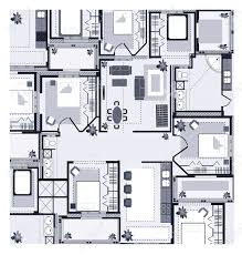 grey house plan on a white background royalty free cliparts