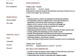Hairdresser Resume Examples by Resume Samples Resume Samples Database Hair Stylist Resume Samples
