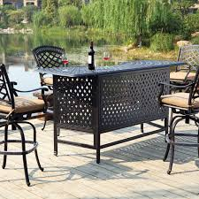 Cast Iron Patio Furniture Sets - darlee sedona 5 piece cast aluminum patio party bar set with