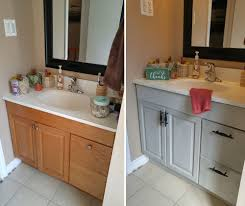 how to paint existing bathroom cabinets diy bathroom vanity ideas for repurposers