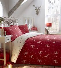 100 brushed cotton flannelette christmas reindeer duvet quilt