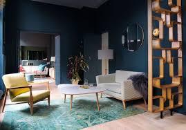 model deco salon stunning salon bleu vintage images home decorating ideas