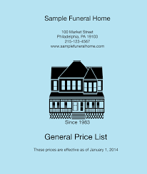 funeral homes prices what is a general price list and what you may find in it