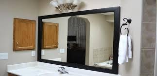 clever design black framed mirrors for bathroom on bathroom mirror