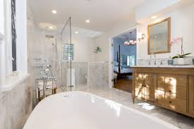 New York Carrera Marble Bathrooms Bathroom Farmhouse With Glass - Carrera marble bathroom vanity