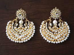 chandbali earrings raima kundan chandbali earrings sokora jewels