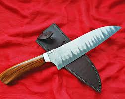 Steel Kitchen Knives Chef Knife Etsy