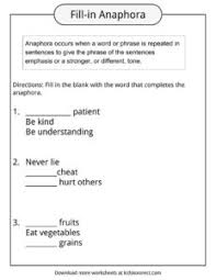 anaphora worksheet the best and most comprehensive worksheets