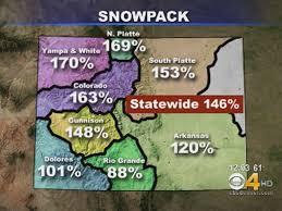colorado snowpack map record snowpack bad for colorado cbs denver