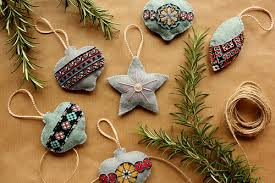 unique handmade christmas ornaments found sewn handmade christmas decorations