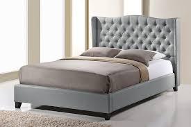 Modern Platform Bed King Baxton Studio Norwich Linen Modern Platform Bed King