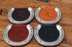 personalized horseshoe set personalized horseshoe coasters hill top leather shop wish