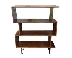 mid century inspired zigzag bookshelf made to order 120 days