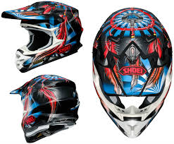no fear motocross gear shoei vfx w motocross mx helmet grant 2 tc 1 red blue matt