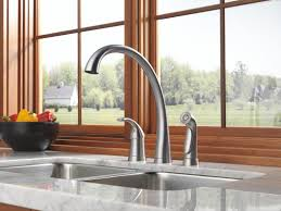 delta hands free kitchen faucet faucet com 4380 dst in chrome by delta