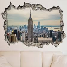 walplus wall stickers new york sunrise mural art decals vinyl home