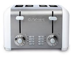 Cuisinart Toasters Cuisinart 4 Slice Compact Toaster White Stainless The Home