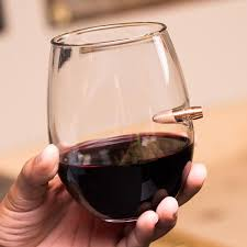 308 real bullet handblown wine glass lucky usa