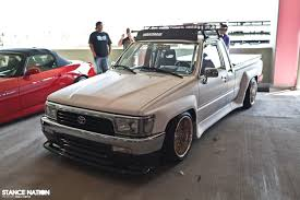 stanced nissan hardbody hellaflush nissan truck pictures to pin on pinterest thepinsta