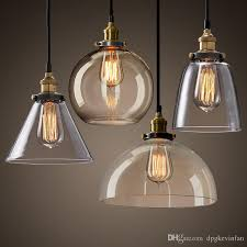 Industrial Glass Pendant Lights New Modern Vintage Industrial Retro Loft Glass Ceiling L Shade