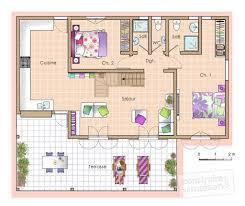 plan maison rdc 3 chambres plan maison rdc 3 chambres great plan maison plain pied plans de