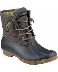 womens quilted boots sale slash prices on s sperry top sider saltwater duck boot