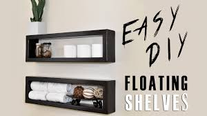 Building Floating Shelves by 7 Diy Floating Shelf Youtube
