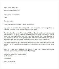 sponsorship letter 7 free download for word