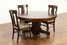 Arts And Crafts Dining Room Set by Sold Arts U0026 Crafts Mission Oak Antique Round Craftsman Dining