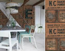 papier peint trompe l oeil cuisine papiers peints pour une salle à manger industrielle au fil