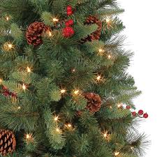 potted christmas tree buy the 5 ft pre lit green geneva potted artificial christmas