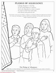 pledge of allegiance coloring page coloring print 4215